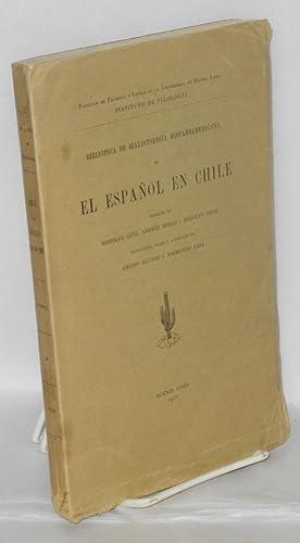 El Espanol en Chile; traduccion, notas y apendices de Amado Alonso y Raimundo Lida: Lenz, Rodolfo, ...