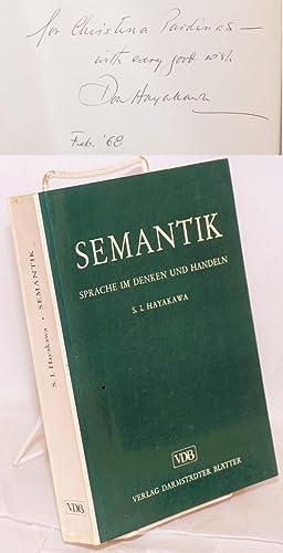 Semantik; sprache im denken und handeln, aus dem Amerikanischen ?bersetzt imd herausgegeben von G?...