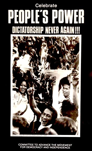 Celebrate people's power / Dictatorship never again!!! [poster]