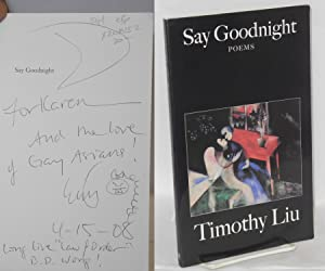 Say goodnight: Liu, Timothy