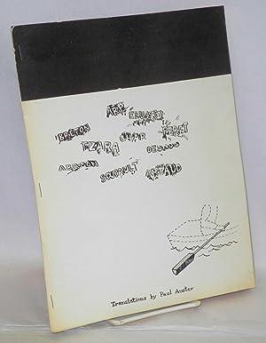 A little anthology of Surrealist poems translated: Auster, Paul, translator,