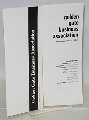 Golden Gate Business Association membership directory: [1975? and 1976/77 - two brochures]: ...