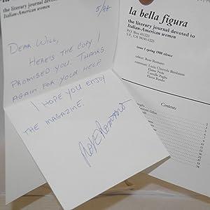 la bella figura: the literary journal devoted to Italian-American women issue 1, Spring 1988 ...