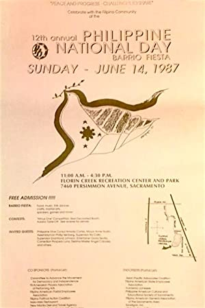 12th Annual Philippine National Day Barrio Fiesta. Sunday - June 14, 1987 [poster]