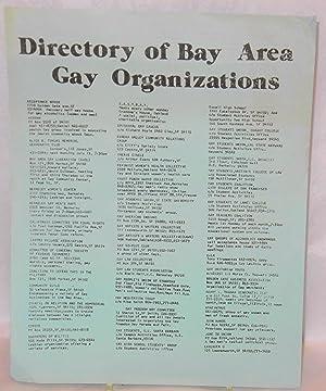 Directory of Bay Area Gay Organizations [handbill]