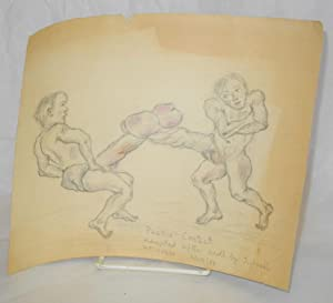 Phallic contest adapted after scroll by Jichosai by P. P. Kress 6/29/83 [captioned erotic pencil ...