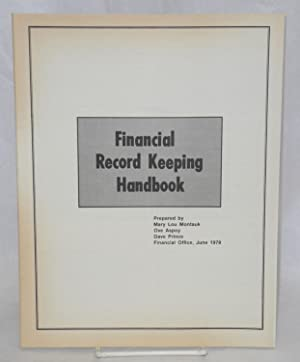 Financial record keeping handbook