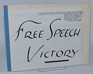 Free speech victory: Citizens Committee for Constitutional Liberties. Youth Committee