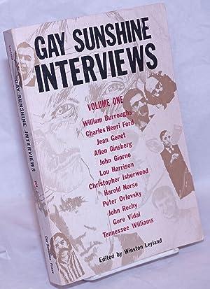 Gay Sunshine interviews; volume 1: Leyland, Winston, editor, William Burroughs, Jean Genet, Allen ...
