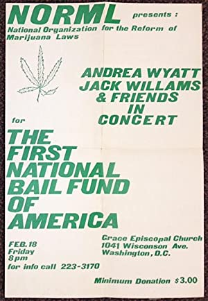 NORML presents: Andrea Wyatt, Jack Williams and friends in concert for the First National Bail Fu...