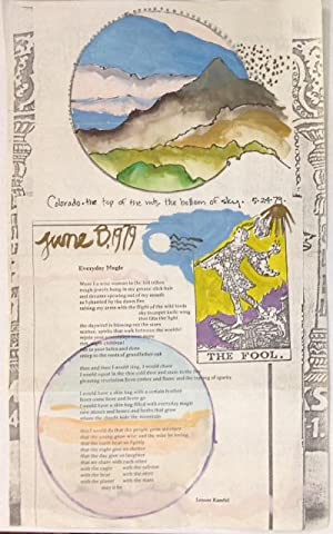 Colorado - the top of the mts, the bottom of the sky. 5-24-79 [hand-colored broadside]