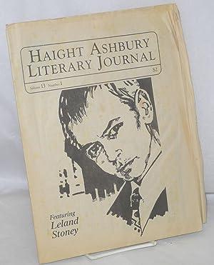 Haight Ashbury literary journal: vol. 13, #1: Hotchkiss, Joanne, Alice
