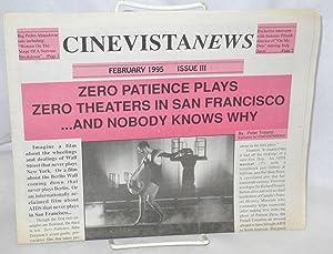 "Cinevista News: issue #3, February 1995: ""Zero: Alvarez, Susan M.,"