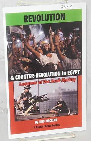 Revolution and counter-revolution in Egypt: lessons of: Mackler, Jeff