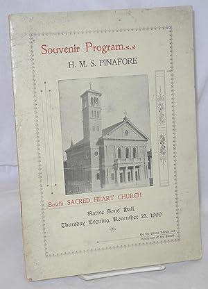 """Souvenir program """"H.M.S. Pinafore"""" benefit Sacred Heart"""