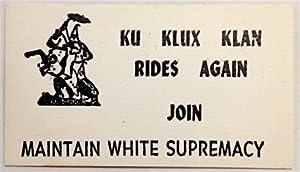 Ku Klux Klan rides again. Join -: Ku Klux Klan]