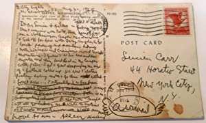 Postcard from Seattle with handwritten message to Lucien Carr and Aileen [Lee] dated August 30, 1965
