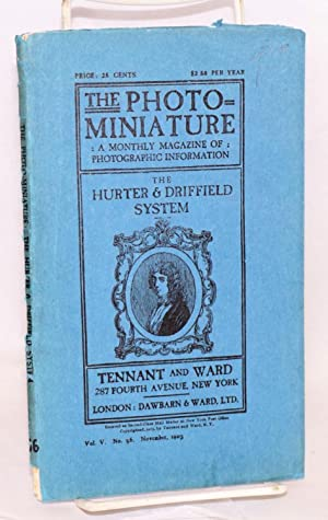 The photo-miniature, a magazine of photographic information.: Tennant, John A.,