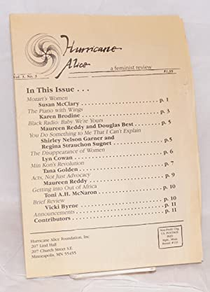 Hurricane Alice: a feminist review; vol. 3, #3