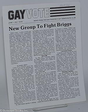 Gay vote: news from the San Francisco: San Francisco Gay