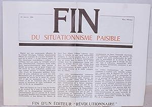 Fin du situationnisme paisible: Voyer, Jean-Pierre