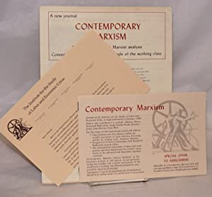 [Four brochures promoting the journal Contemporary Marxism]