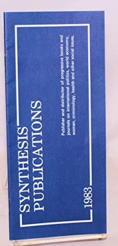 Synthesis Publications [catalog of publications]