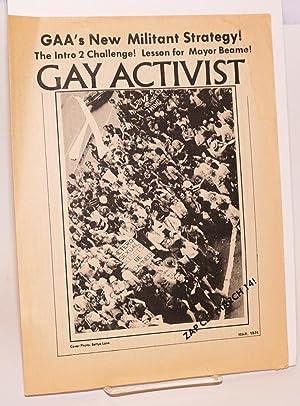 Gay Activist; March 1974; GAA's New Militant: Gay Activists Alliance