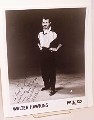 Photograph: publicity photo of Walter Hawkins, inscribed and signed