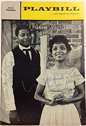 Playbill for Purlie Victorious signed by Ruby Dee & Ossie Davis vol. 5, #46, November 13, 1961