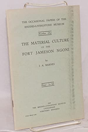 The material culture of the Fort Jameson Ngono