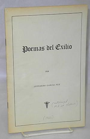 Poemas de exilio: Garcia Fox, Leonardo