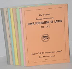 Eight different annual convention reports]: Iowa State Federation of Labor