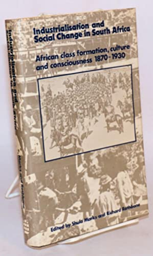 Industrialization and social change in South Africa; African class formation, culture, and concio...