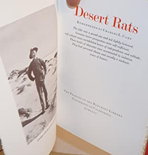 Desert Rats, remembered by Charles L. Camp; the title was a proud one and not lightly bestowed. ...