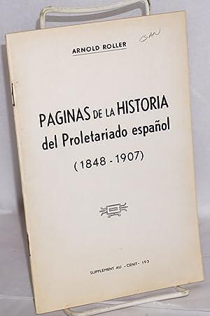 Paginas de la historia del Proletariado espa?ol (1848-1907): Roller, Arnold