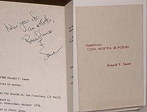 Manifesto: Cosa Nostra di Poesia: Sauer, Ronald F.