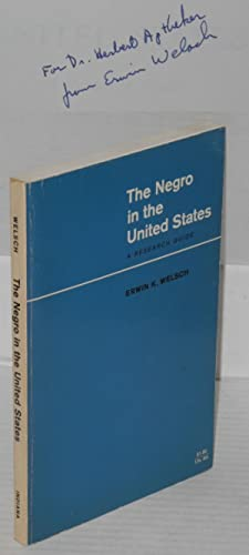 The Negro in the United States; a research guide