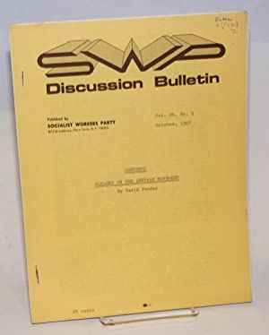 SWP discussion bulletin, vol. 26, No. 9 (October, 1967): Socialist Workers Party