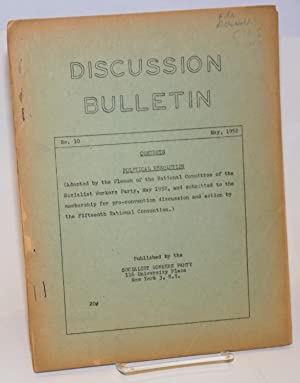 SWP discussion bulletin, No. 10 (May 1952): Socialist Workers Party