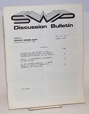 Discussion bulletin vol. 27, no. 8 (August 1969): Socialist Workers Party