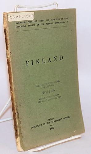 Finland: Prothero, G. W., ed