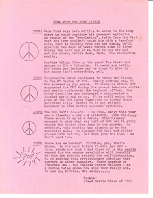 News from the Sand Castle [leaflet mailed to SDS members by the FBI as part of a COINTELPRO misin...