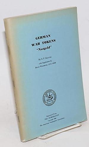 """German war tokens. """"Notgeld"""": Eklund, O P;"""