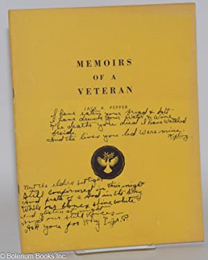 Memoirs of a veteran: Pepper, Jack A.