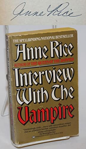 Interview With the Vampire: a novel [signed]