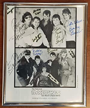 The Fabulous Dyketones 50's Rock & Role Band [signed 8x10 b&w publicity photo]