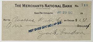 [Handwritten check to The Masses, endorsed by Max Eastman]