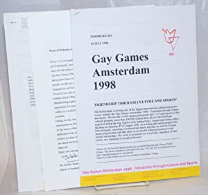Gay Games Amsterdam 1998 materials