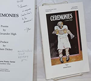 Ceremonies poems [signed]